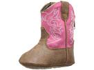 Durango Kids 5 Pink Western Bootie (Infant) (Tan/Pink)
