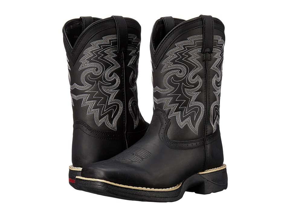 Durango Kids 8 Western Lil Durango Square Toe Big Kid Black Cowboy Boots