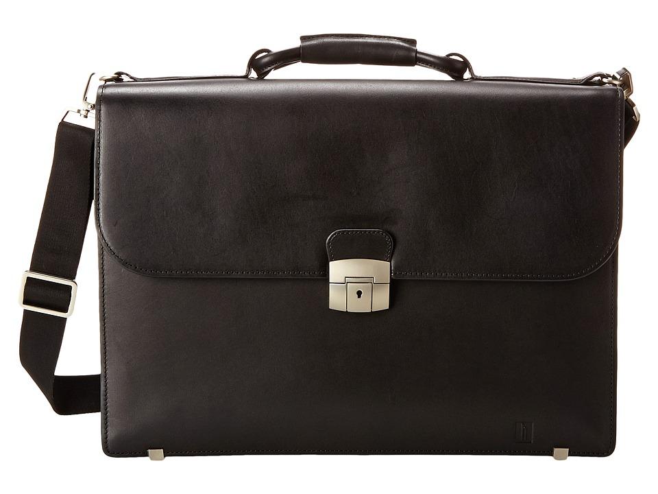 Hartmann Heritage - Flap Brief (Black) Briefcase Bags