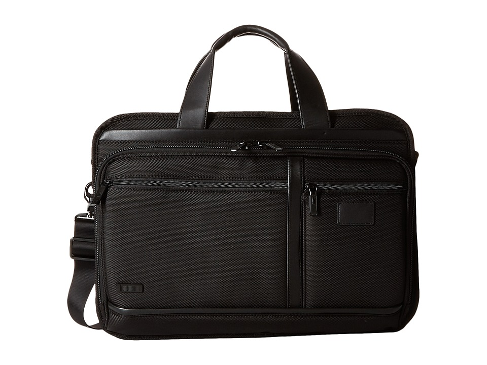 Hartmann - Hypertex - Double Compartment Expandable Brief (Black) Briefcase Bags