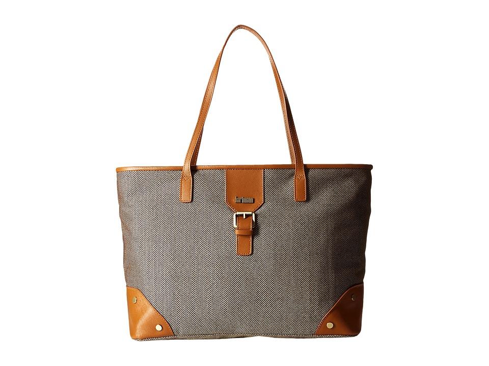 Hartmann Herringbone Luxe Shoulder Bag (Terracotta Herringbone) Luggage