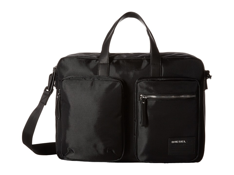 Diesel - Beat The Box Crash - Briefcase (Black/Black) Briefcase Bags