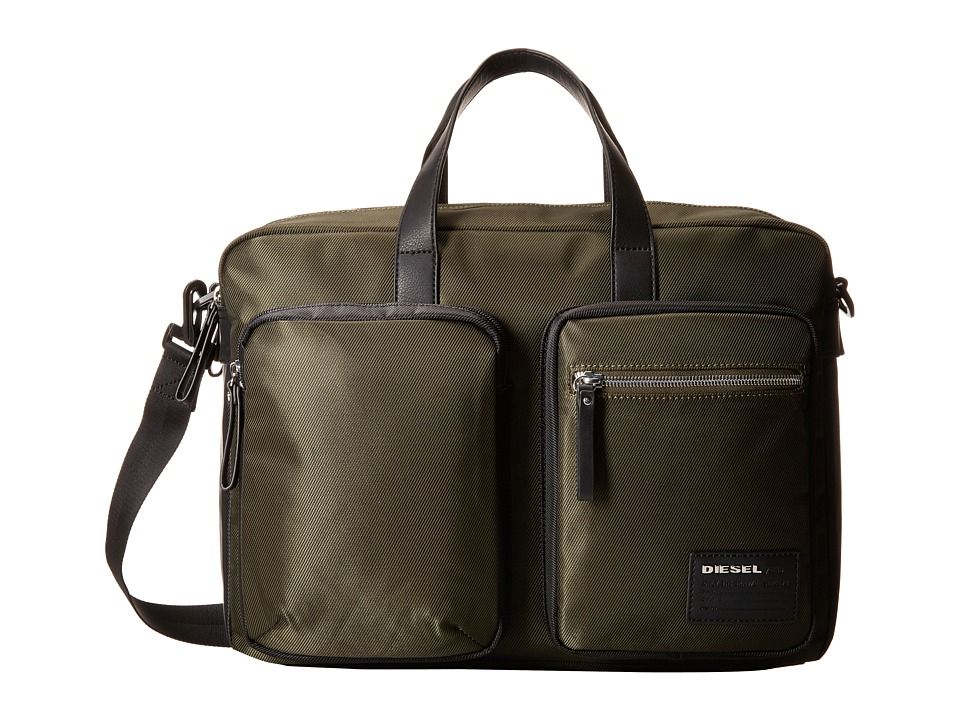 Diesel - Beat The Box Crash - Briefcase (Forest Night/Black) Briefcase Bags