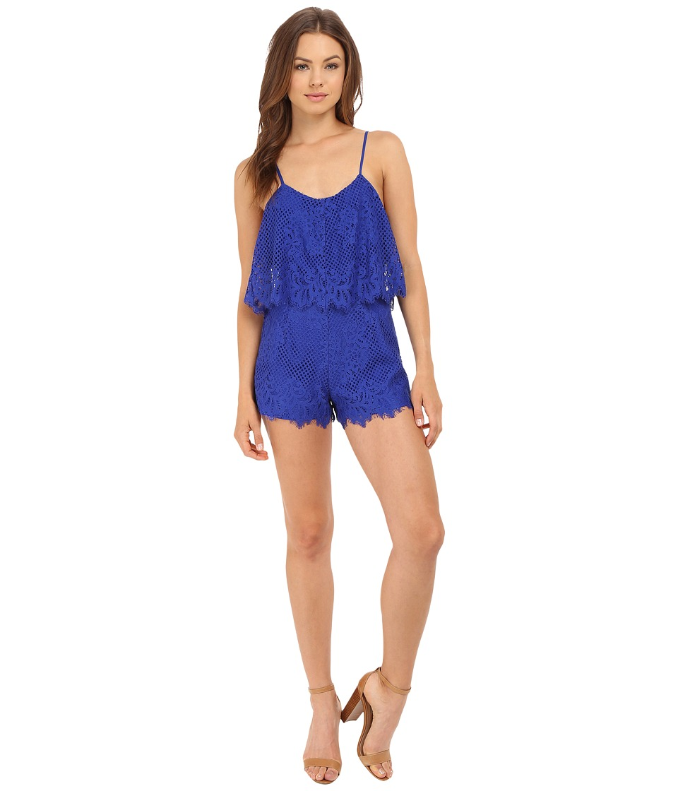 Lovers Friends Henna Romper Marine Blue Womens Jumpsuit Rompers One Piece