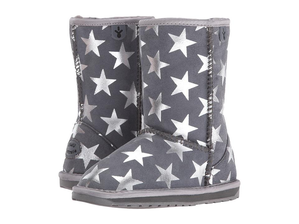 EMU Australia Kids Stary Night (Toddler/Little Kid/Big Kid) (Charcoal) Girls Shoes
