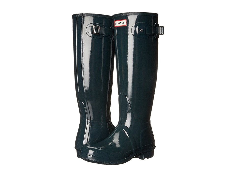 Hunter Original Tall Gloss (Ocean) Women