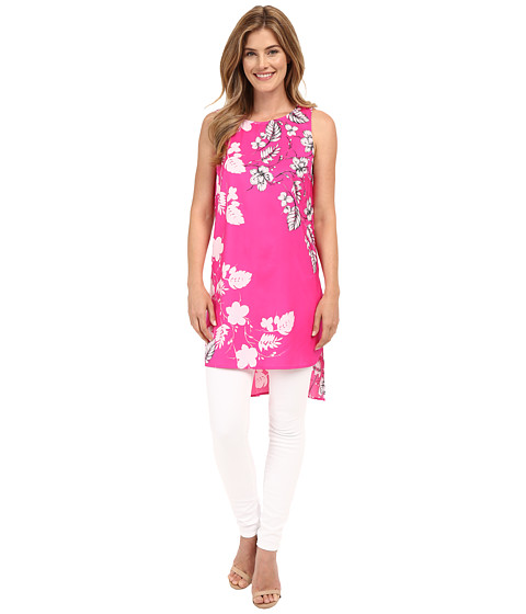Vince Camuto Sleeveless Floral Cascade Long Tunic