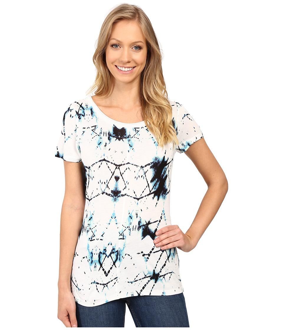 Calvin Klein Jeans - Printed Short Sleeve Mixed Media Slub Tee (Pristine) Women