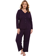 Jockey - Plus Size Two-Piece Cotton Cardigan PJ Set