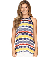 Vince Camuto - Jagged Band Stripe Halter Blouse