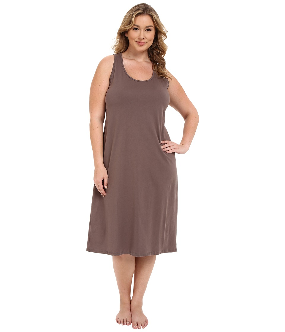 Jockey - Plus Size 47 Cotton Racerback Gown (Truffle) Womens Pajama