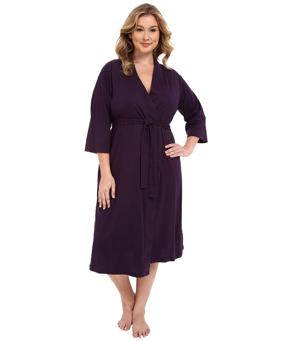Jockey Plus Size 48 Cotton Robe Eggplant Womens Robe