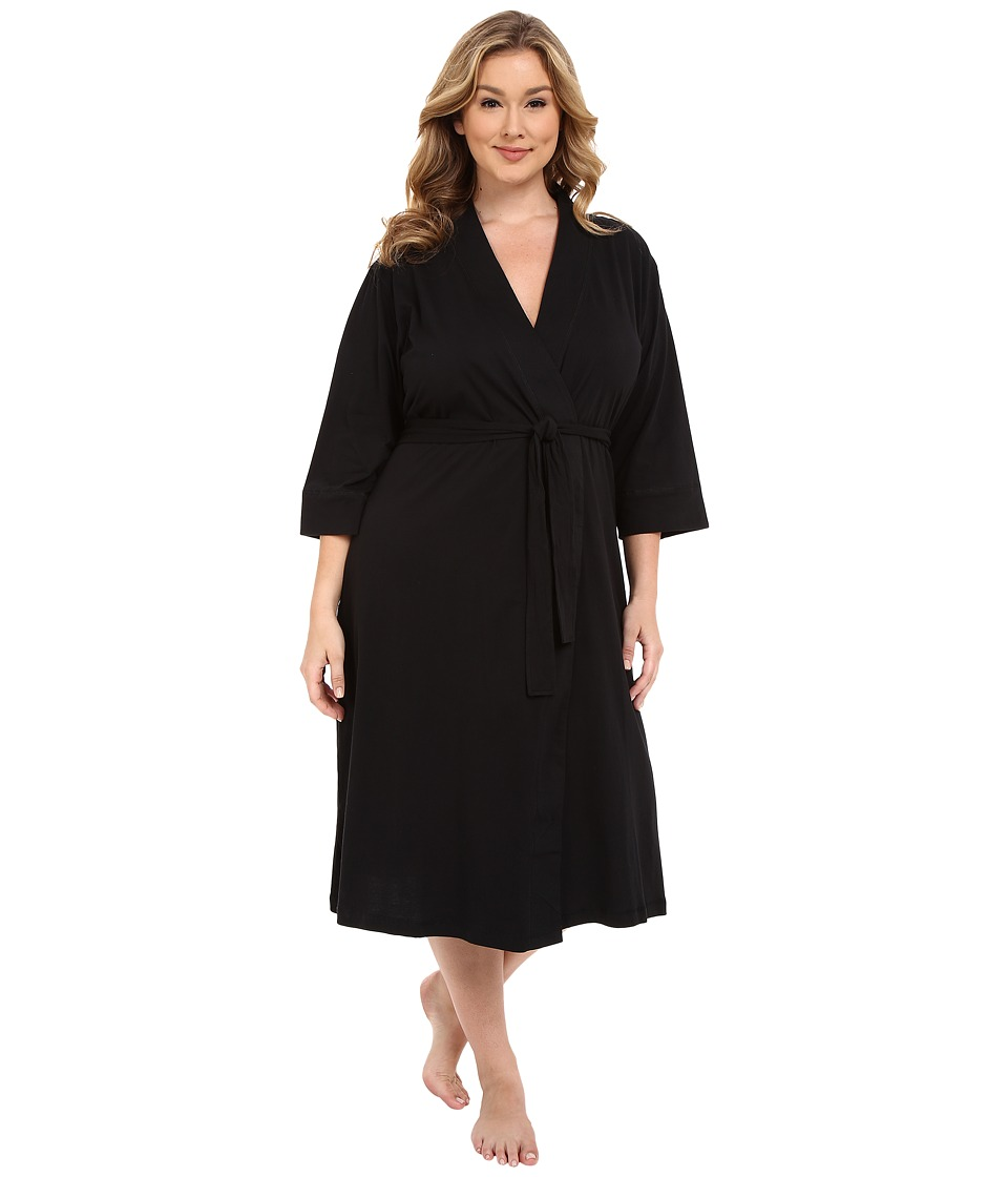 Jockey Plus Size 48 Cotton Robe Black Womens Robe