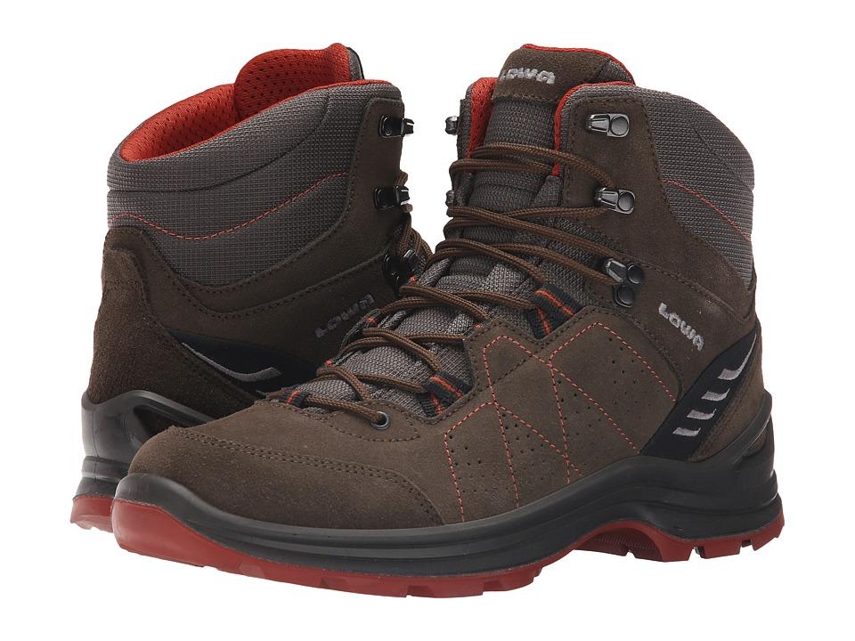 Lowa Tiago Mid Slate/Rust Mens Shoes