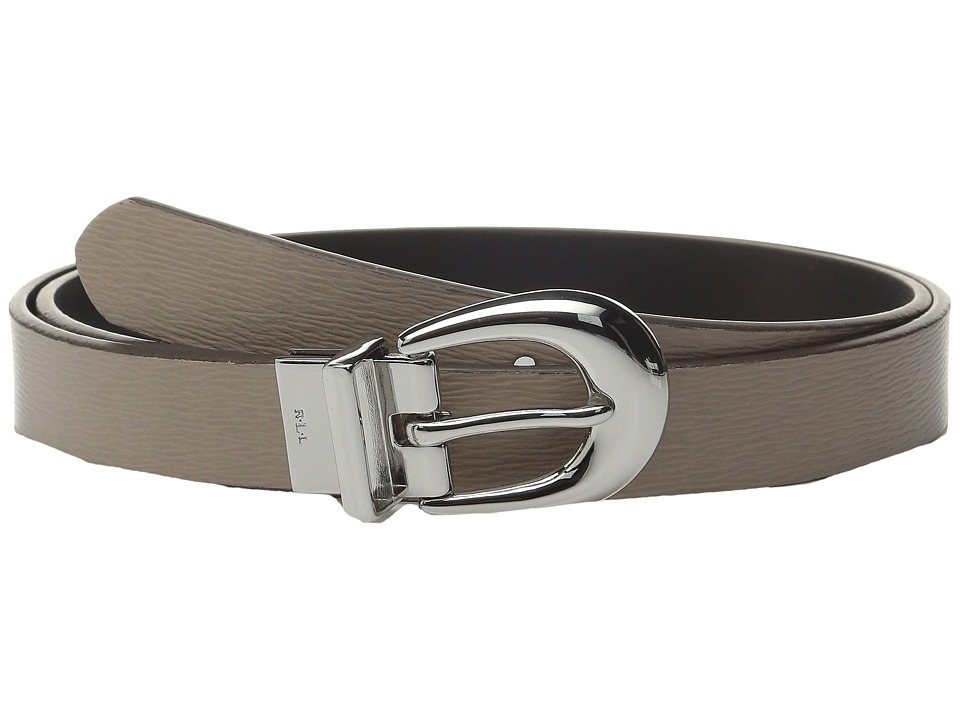 LAUREN Ralph Lauren 1 Saffiano to Smooth Reversible Belt Porcini/Black Womens Belts