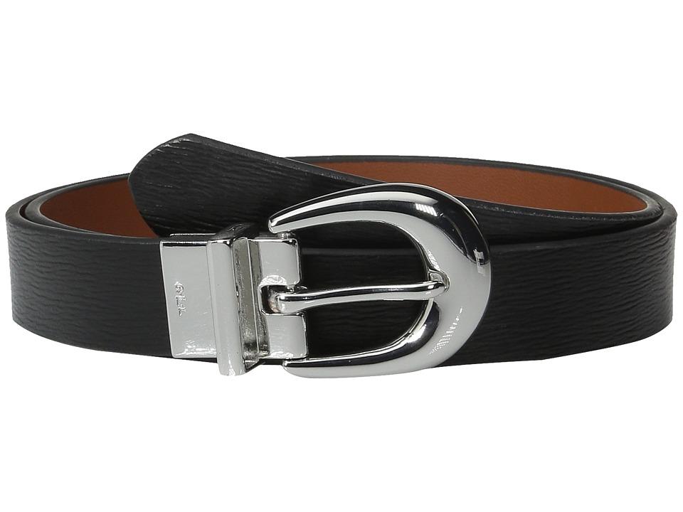 LAUREN Ralph Lauren - 1 Saffiano to Smooth Reversible Belt (Black/Lauren Tan) Womens Belts