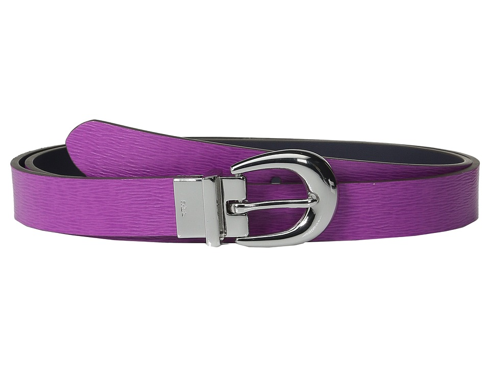 LAUREN Ralph Lauren 1 Saffiano to Smooth Reversible Belt Bright Orchid/Navy Womens Belts