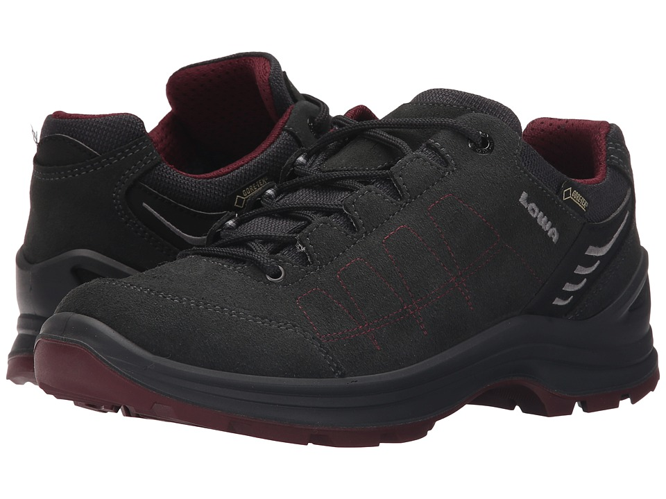 Lowa Tiago GTX Lo Anthracite/Berry Womens Shoes