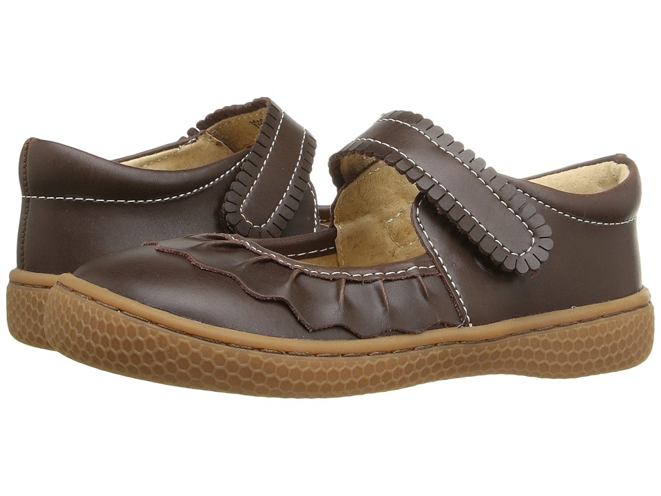 Livie + Luca Ruche (Infant/Toddler/Little Kid) (Mocha) Girls Shoes