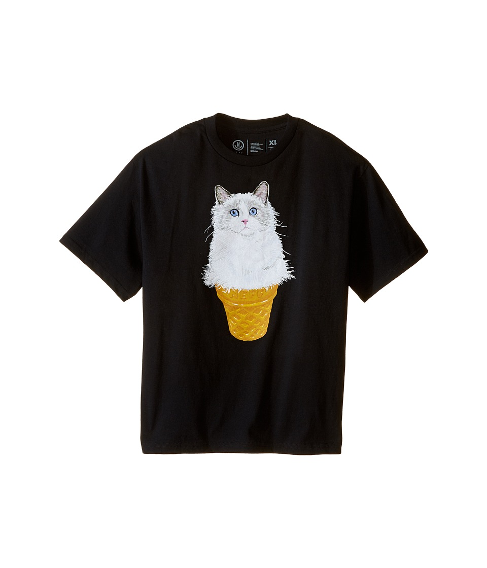Neff Kids - Kitty Cone Tee (Big Kids) (Black) Boy