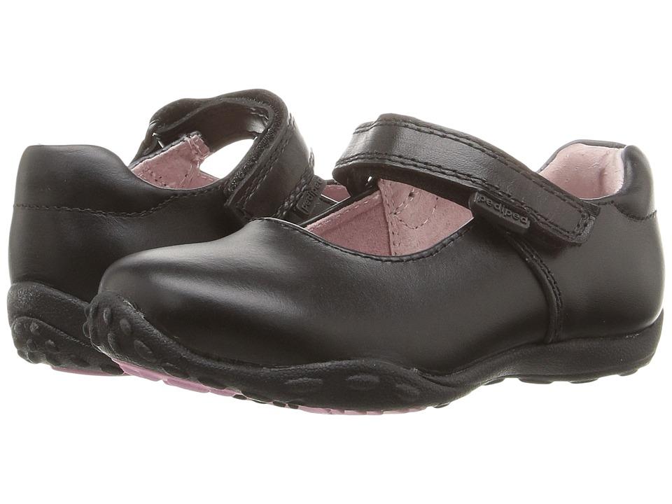 pediped Beverly Flex (Toddler/Little Kid/Big Kid) (Black) Girl's Shoes