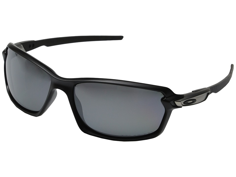 Oakley Carbon Shift Matte Black/Black Iridium Polarized Plastic Frame Fashion Sunglasses