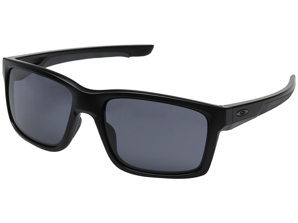 Oakley Mainlink (Matte Black/Grey) Plastic Frame Fashion Sunglasses