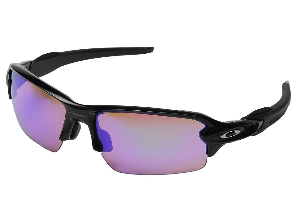 Oakley A) Flak 2.0 (Polished Black/Prizm Golf) Sport Sung...