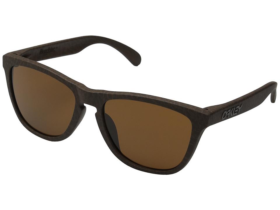 Oakley A Frogskins Tobacco/Dark Bronze Chrome Iridium Plastic Frame Fashion Sunglasses