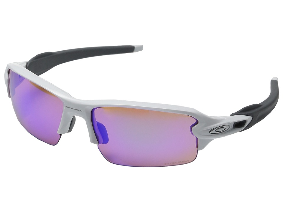 Oakley A) Flak 2.0 (Polished White/Prizm Golf) Sport Sung...