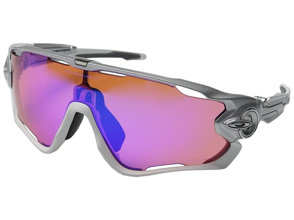 Oakley A Jawbreaker Sliver/Polished White/Prizm Trail Sport Sunglasses