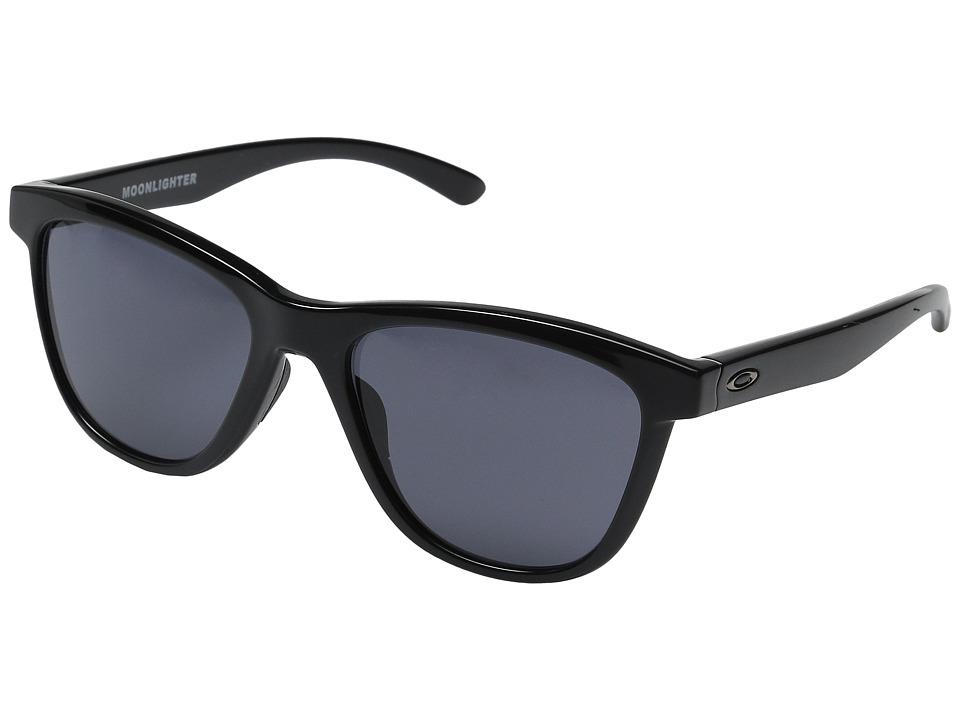 Oakley - Moonlighter (Polished Black/Grey) Plastic Frame Fashion Sunglasses