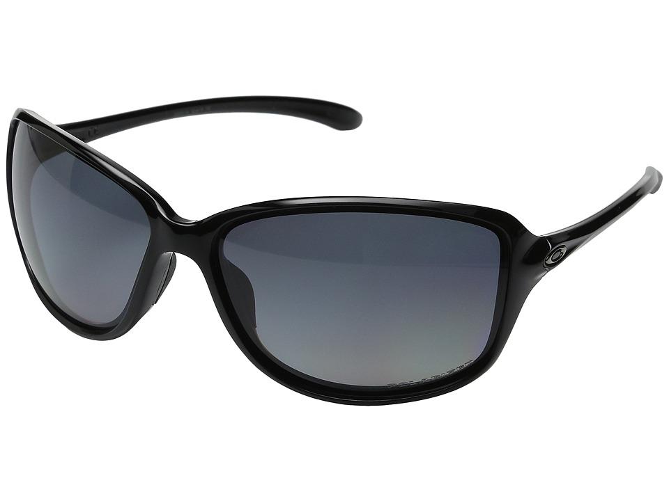 Oakley Cohort Polished Black/Grey Gradient Polarized Plastic Frame Fashion Sunglasses