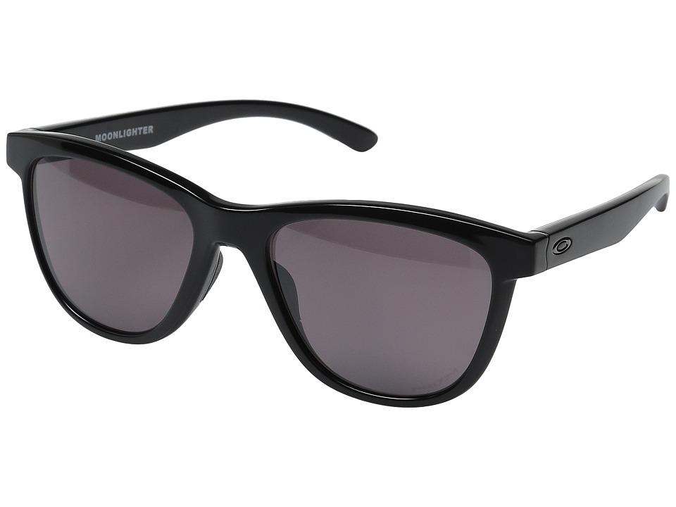 Oakley Moonlighter (Polished Black/Prizm Daily Polarized) Plastic Frame Fashion Sunglasses