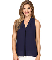 Vince Camuto - Sleeveless V-Neck Blouse w/ Inverted Front Pleat