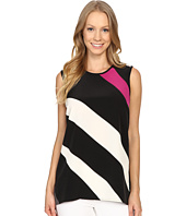 Vince Camuto - Sleeveless Contour Glide Panel Mix Media Top