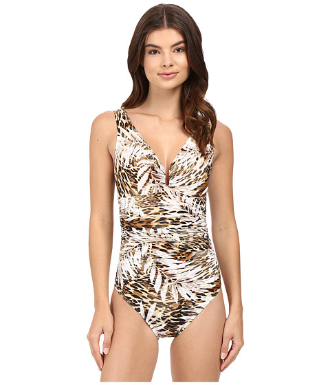 Miraclesuit - Sheer Safari Palisades One-Piece (Brown) Women's Swimsuits One Piece