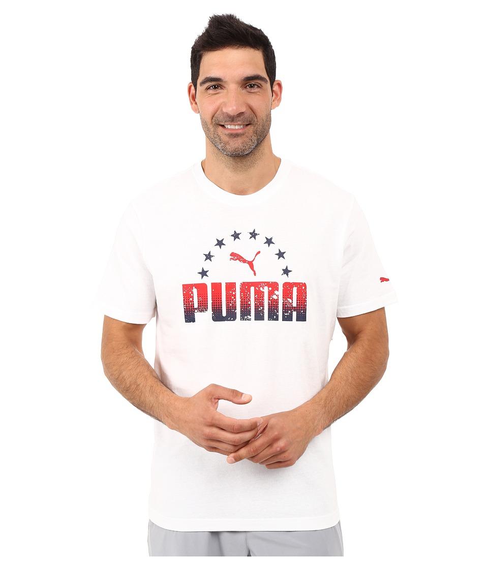 PUMA - Arch Star Tee (PUMA White) Men
