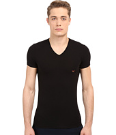 Emporio Armani - Full Metal Shaded Eagle V-Neck Tee