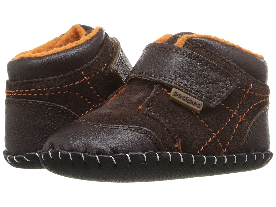 pediped Troy Originals (Infant) (Chocolate) Boy's Shoes