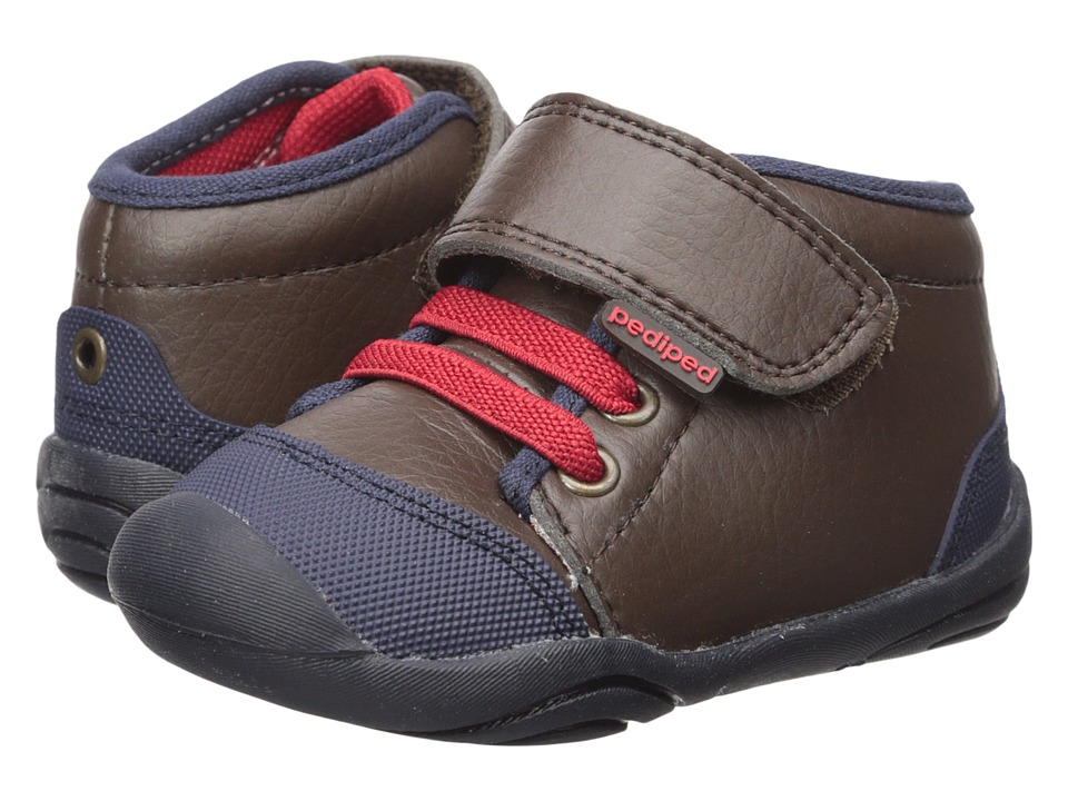 pediped - Jay Grip n Go (Toddler) (Brown) Boys Shoes