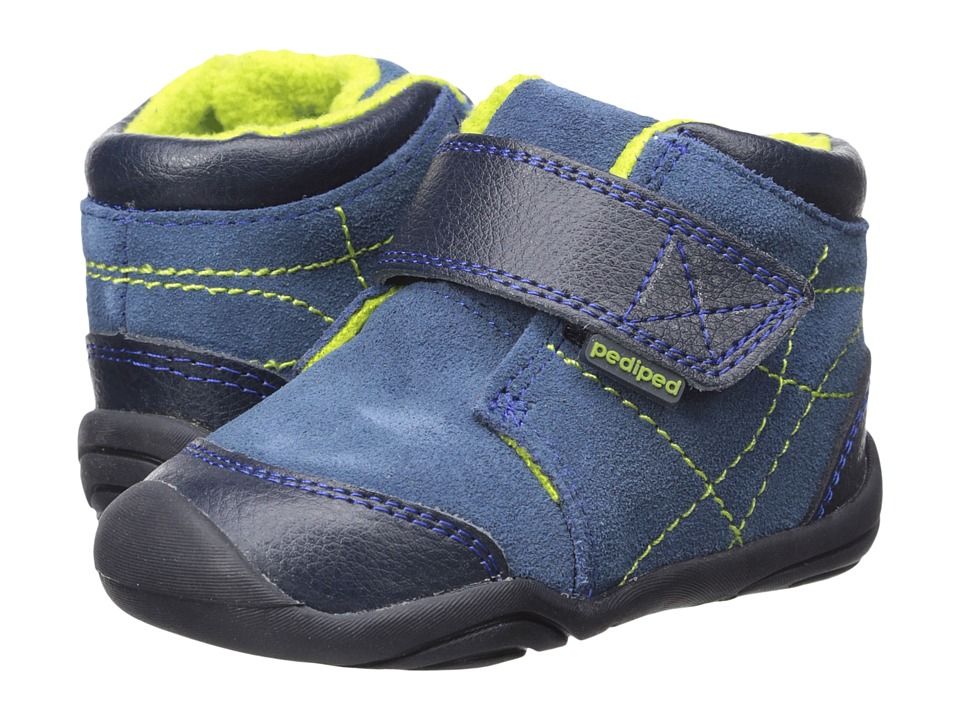pediped Troy Grip n Go (Toddler) (Navy) Boy's Shoes