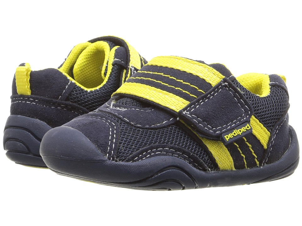pediped - Adrian Grip n Go (Toddler) (Navy/Yellow) Boys Shoes