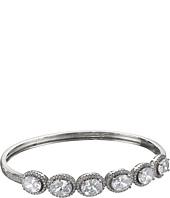 Nina - Oval Halo Cuff Bracelet
