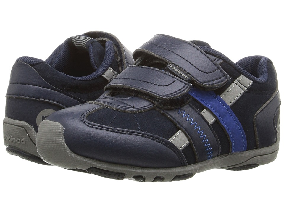 pediped - Gehrig Flex (Toddler/Little Kid) (Navy/Grey) Boys Shoes