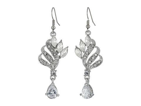 Nina CZ/Crystal Cocktail Earrings - Rhodium/Crystal