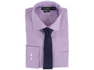 LAUREN Ralph Lauren Check Spread Collar Slim Shirt