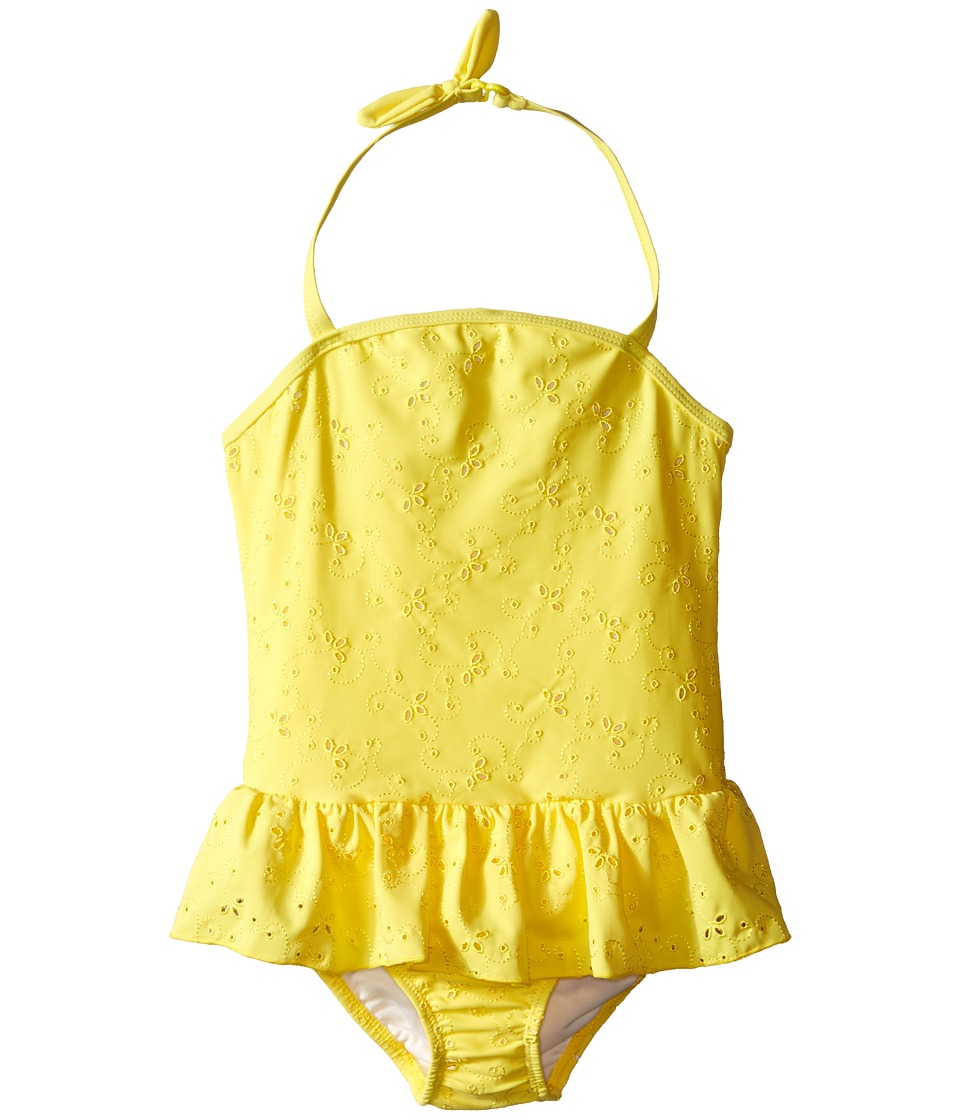 Kate Spade New York Kids Eyelet One Piece Toddler/Little Kids Lemon Yellow Girls Jumpsuit Rompers One Piece