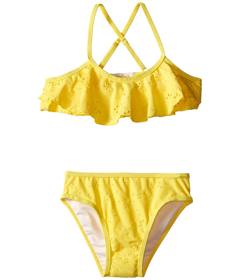 Kate Spade New York Kids Eyelet Two Piece Toddler/Little Kids Lemon Yellow Girls Active Sets