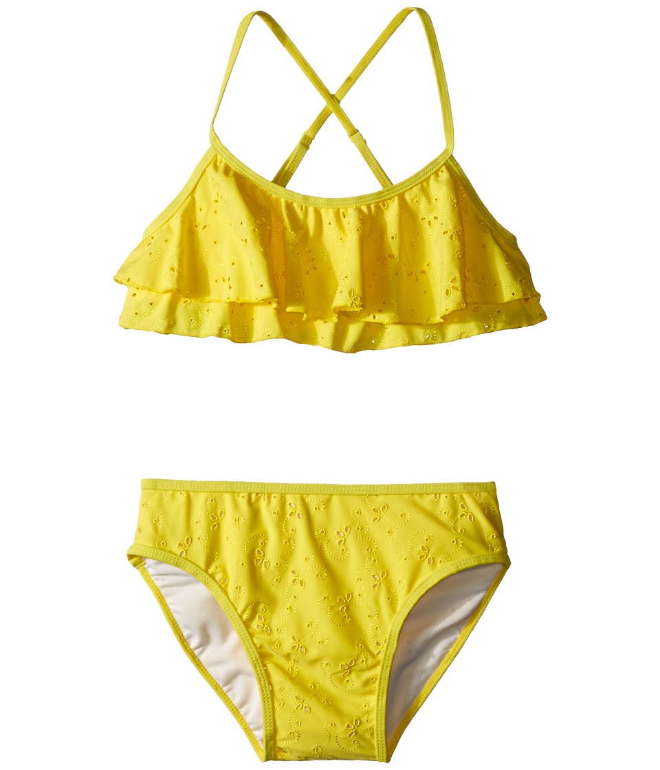 Kate Spade New York Kids Eyelet Two Piece Big Kids Lemon Yellow Girls Active Sets